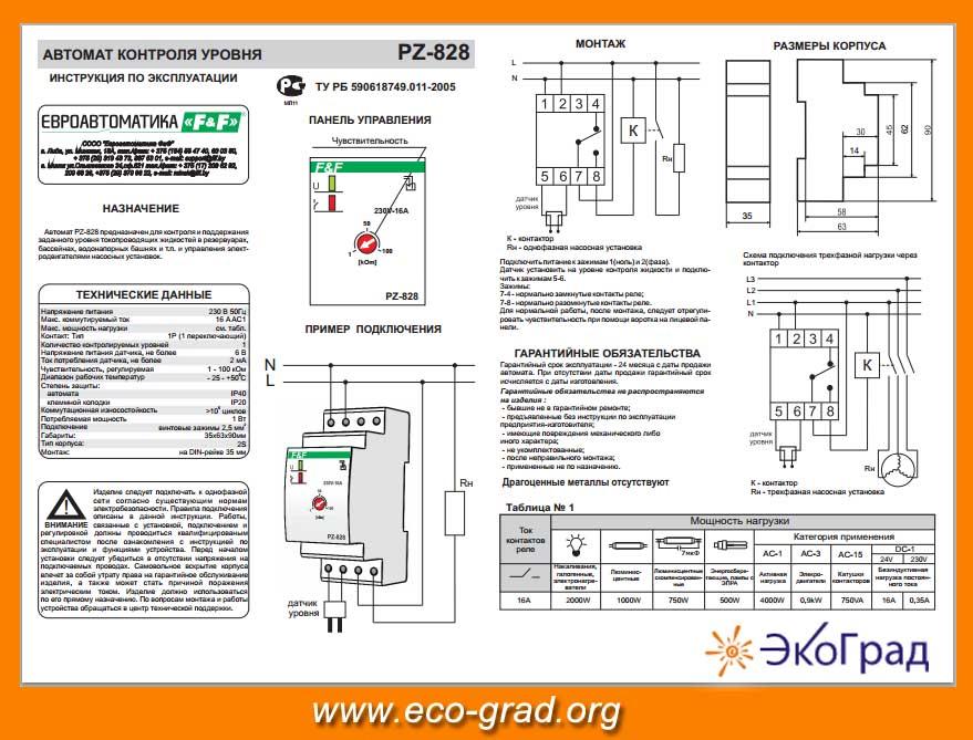 Pz 828 инструкция - фото 3